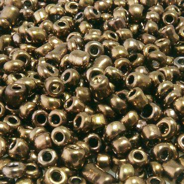 900 Rocailles Glasperlen braun Perlen 3mm Rocaillesperlen zum Schmuck basteln – Bild 1