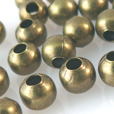 35 Metallperlen Kugeln 6mm rund bronze Perlen zum Schmuck Basteln -1272 – Bild 1