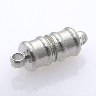 Magnet Verschluss Kettenverschluss silber Stäbchen -790