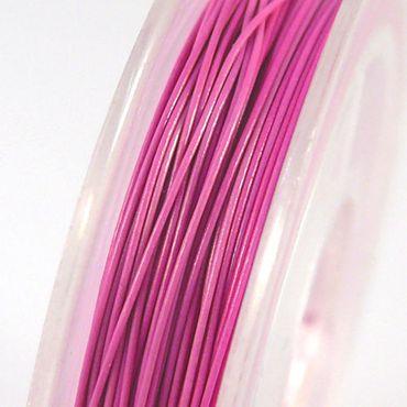 10m Schmuckdraht Basteldraht pink Draht 0,38mm Schmuck Basteln -1228 – Bild 1