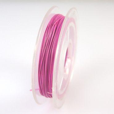10m nylonummantelter Schmuckdraht Basteldraht pink Draht 0,38mm Schmuck Basteln  – Bild 2