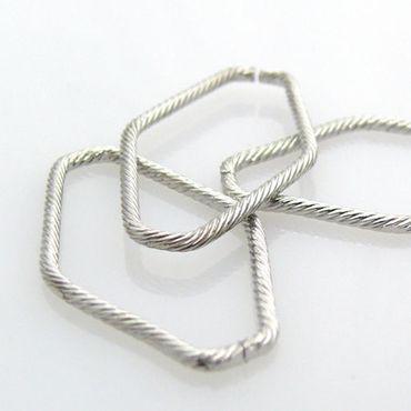 3 Metallperlen Ketten Verbinder zum Basteln 40mm -901 – Bild 1