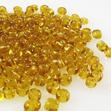 250 Rocailles Perlen Glasperlen 4mm topas Glas Beads Bastelperlen -566