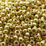 660 Rocailles Perlen 8/0 Glasperlen gold 3mm böhmische Bastelperlen -865