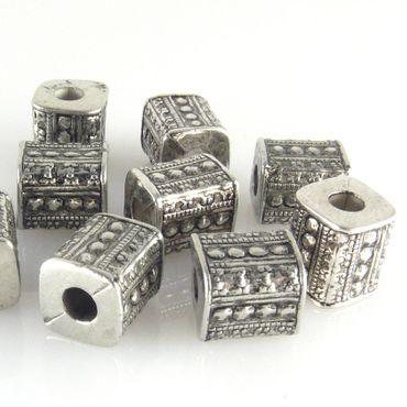 10x Perlen Kunststoffperlen 10mm Spacer Acrylperlen silber -1451