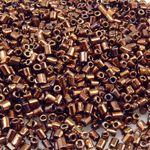 1000 Rocailles Glasperlen braun Perlen 2,6mm Basteln mit Rocaillesperlen