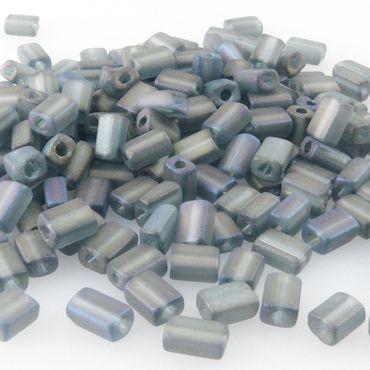 180 Rocailles-Stifte Glasperlen grau matt 5mm Glas Beads Perlenstifte -316