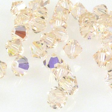 10x SWAROVSKI ELEMENTS 5301 Bicone 4mm Silk AB Glasperlen Doppelkegel -1614 – Bild 1
