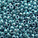 660 Rocailles Perlen Glasperlen türkis-blau 2mm neu Indianerperlen Glas Beads