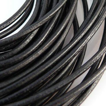 80cm Lederschnur Ø 2mm schwarz Lederband Lederriemen Band aus Leder -231 – Bild 1