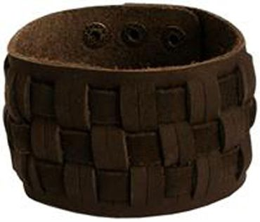breites Herren Leder-Armband braun Lederarmband neu Männerarmband Herrenschmuck – Bild 1