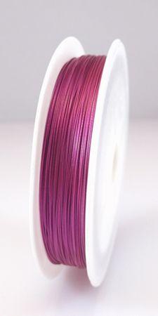 55m Schmuckdraht Basteldraht Ø 0,45mm pink Draht nylonummantelt  -1718 – Bild 2