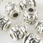 15 Metallperlen Spacer Walzen 6x5,5mm Metall Perlen altsilber Bastelperlen