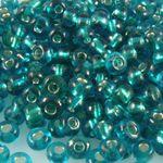 Rocailles Glasperlen türkis mit Silbereinzug 3-4mm 280x Perlen Rocaillesperlen-929
