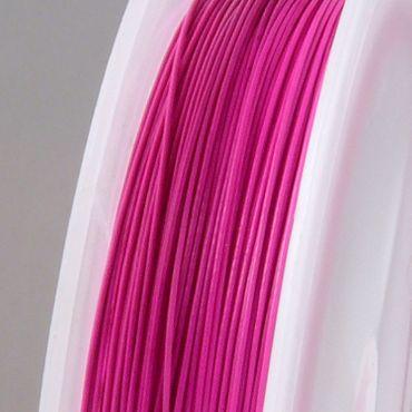 55m Schmuckdraht Basteldraht Ø 0,45mm pink Draht nylonummantelt  -1725