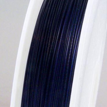 55m Schmuckdraht Basteldraht Ø 0,45mm blau nylonummantelt Draht Basteln