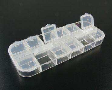 Sortierbox Perlenbox mit 12 Fächer Sortierkasten 13x7cm Box für Perlen und Zubehör 2008