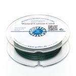 GRIFFIN 20m Fädelband 1mm grün Baumwollband gewachste Perlenschnur 001