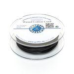 GRIFFIN 20m Fädelband 1mm schwarz Baumwollband gewachste Perlenschnur 001