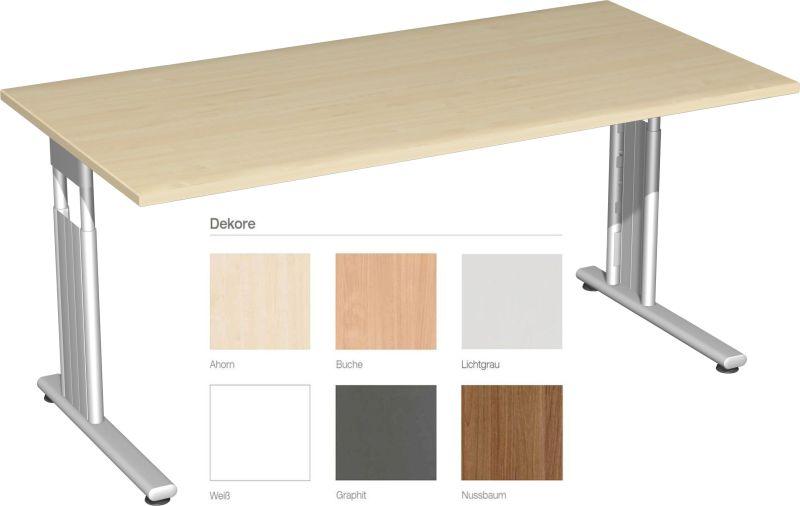 Schreibtisch höhenverstellbar als höhenverstellbarer Schreibtisch inklusive Tischplatte