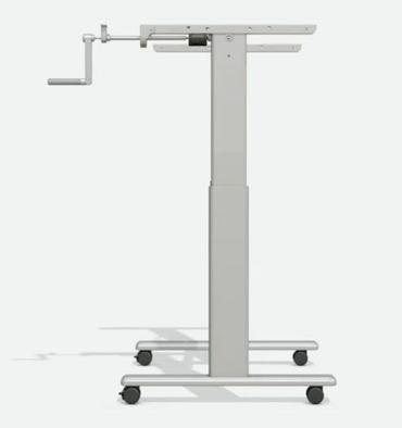 Höhenverstellbarer Schreibtisch. T-Fuß-Tischgestell »TOP-ECO Classic V1.2HC« mit Handkurbel, Rollen und 1-stufigen Teleskophubsäulen. Dynamische Tragfähigkeit bis 60 kg. – Bild 12