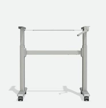Höhenverstellbarer Schreibtisch. T-Fuß-Tischgestell »TOP-ECO Classic V1.2HC« mit Handkurbel, Rollen und 1-stufigen Teleskophubsäulen. Dynamische Tragfähigkeit bis 60 kg. – Bild 2