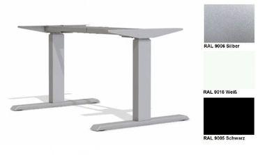 Elektrisch höhenverstellbarer Schreibtisch. T-Fuß-Tischgestell »TOP-ECO Neo V2.2« stufenlos einstellbar mit 2-stufigen Teleskophubsäulen und 2 Motoren. Dynamische Tragfähigkeit bis 100 kg mit TÜV-Zertifizierung. – Bild 1