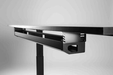 Kabelwanne Swing, Länge 1200 mm, in den Farben Silber, Schwarz und Weiß – Bild 1