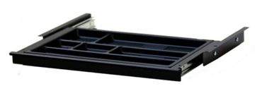 Materialschublade SN, Breite 434 mm, Tiefe 260 mm, in den Farben Silber, Schwarz und Weiß – Bild 3