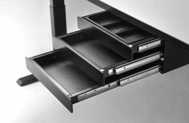 Schubladenbox TRI mit 3 Schuladen, Breite 347 mm, Tiefe 347 mm – Bild 1