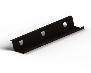 Kabelwanne Fix, Länge 1100 mm, in den Farben Silber, Schwarz und Weiß – Bild 2
