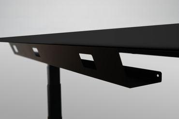 Kabelwanne Fix, Länge 1100 mm, in den Farben Silber, Schwarz und Weiß – Bild 1