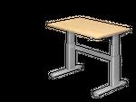Elektrisch höhenverstellbarer Schreibtisch, Rechteckform, Arbeitshöhe 660-1300 mm, Gestell C-Fuß Silber 001