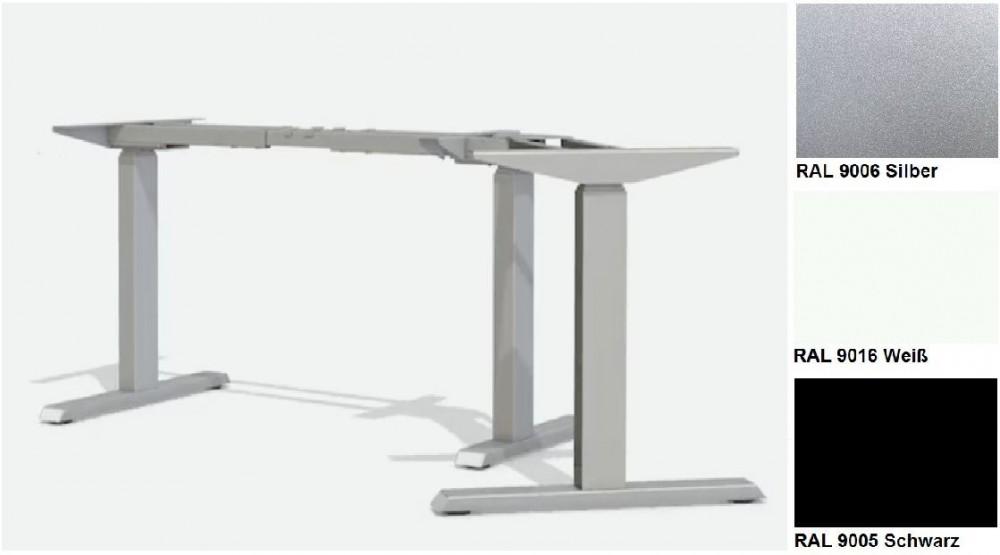 Elektrisch Hohenverstellbarer Schreibtisch T Fuss Winkel