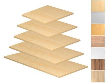 Tischplatte Rechteckform, Tiefe 800/1000 mm x Breite 800/1200/1600/1800/2000 mm, mit Systembohrung – Bild 1