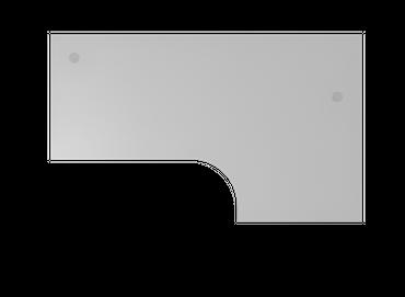 Tischplatte Winkelform 90°, Tiefe 800 mm, links/rechts 1200 mm, Breite 2000 mm, Anstellseite 800 mm, inkl. 2 Kabeldosen – Bild 5