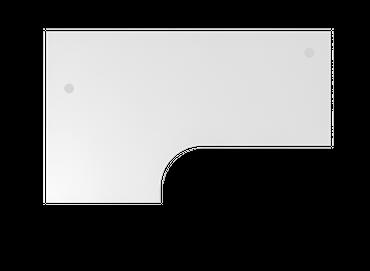 Tischplatte Winkelform 90°, Tiefe 800 mm, links/rechts 1200 mm, Breite 2000 mm, Anstellseite 800 mm, inkl. 2 Kabeldosen – Bild 8