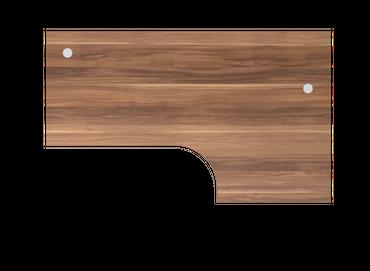 Tischplatte Winkelform 90°, Tiefe 800 mm, links/rechts 1200 mm, Breite 2000 mm, Anstellseite 800 mm, inkl. 2 Kabeldosen – Bild 9