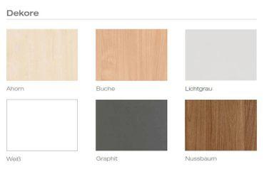 Tischplatte Winkelform 90° / Freiform, Tiefe 800 mm, links/rechts 1000 mm, Breite 1600/1800/2000 mm, Anstellseite 425 mm – Bild 2