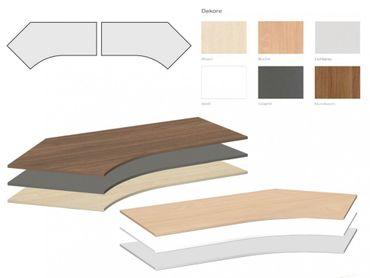 Tischplatte Winkelform 135°, Tiefe 800 mm, links/rechts 1130 mm, Breite 2166 mm – Bild 1