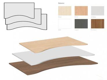 Tischplatte Ergonomieform, Tiefe 1000 mm, Breite 1600/1800/2000 mm – Bild 1