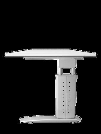 Schreibtisch höhenverstellbar, Rechteckform, Arbeitshöhe 680-860 mm, Tiefe 800/1000 mm, Breite 800/1200/1600/1800/2000 mm, Gestell C-Fuß Silber – Bild 10