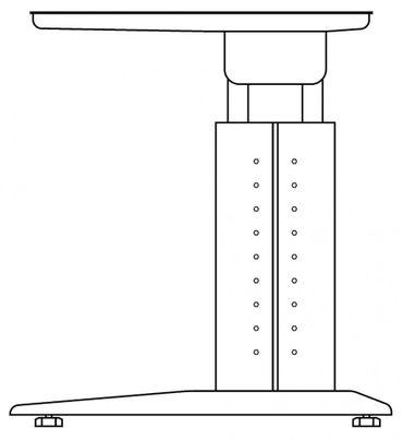 Schreibtisch höhenverstellbar, Winkelform 135°, Arbeitshöhe 680-860 mm, Tiefe 800 mm, links/rechts 1130 mm, Breite 2100 mm, Gestell Weiß C-Fuß – Bild 13