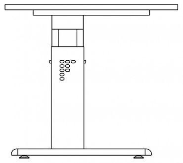 Schreibtisch höhenverstellbar, Rechteckform, Arbeitshöhe 650-850 mm, Tiefe 800/1000 mm, Breite 800/1200/1600/1800/2000 mm, Gestell C-Fuß Weiß – Bild 10