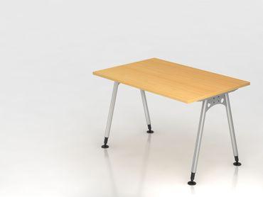 Schreibtisch A-Fuß 120x80cm,  Buche
