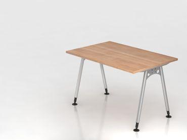 Schreibtisch A-Fuß 120x80cm,  Nussbaum