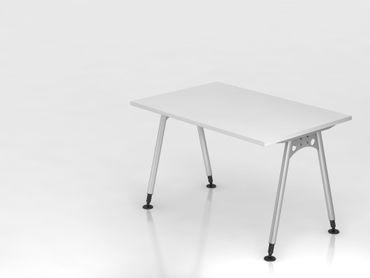 Schreibtisch A-Fuß 120x80cm,  Weiß