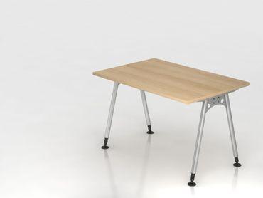 Schreibtisch A-Fuß 120x80cm,  Eiche