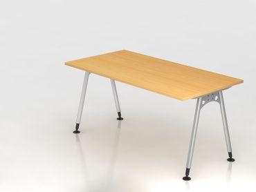 Schreibtisch A-Fuß 160x80cm,  Buche