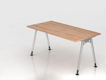 Schreibtisch A-Fuß 160x80cm,  Nussbaum